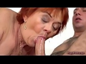 Plump Horny Grandma having a great fuck with this guy
