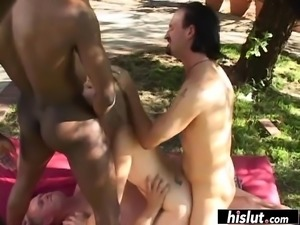 Not even two cocks are enough for the blonde