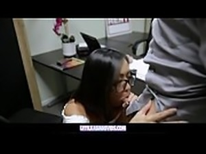 Horny Asian Teen Gets Caught Masturbating During A Job Interview