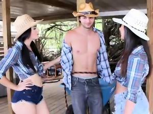 Creampie orgy Farm Girls