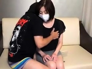 Adorable Japanese babe with perky tits enjoys a meat prick