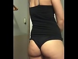 Sexy Petite Teen With  Tender Ass Teasing With Spandex