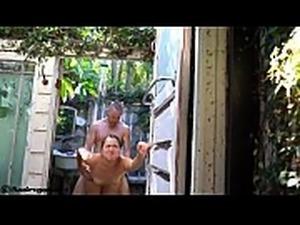 Public fucking outdoors in a shower @sukisukigirlreal @andregotbars