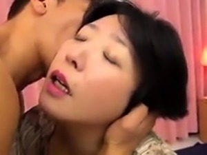 Busty Japanese mom gets her tight hairy peach drilled hard