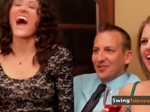Swinger wife with a transexual face loves the swinging life