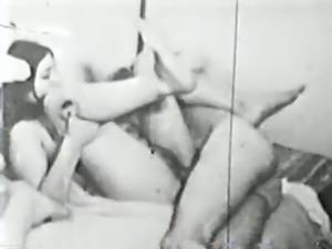 vintage - B&W film orgy circa 1960