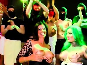 german hardcore creampie and cum gangbang sexparty