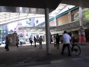 Cute Asian schoolgirl with a perfect ass gets used in public