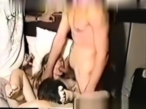 Russian likes doggystyle threesome