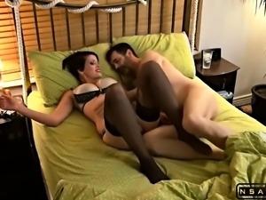 Horny MILF Sucks And Fucks Her Mature Neighbors Huge Cock