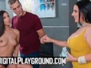 Digital Playground - Two big tit curvy assistants share big cock