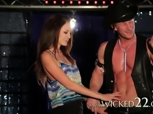 Magic Mike XXX parody scene with babes fucking publicly