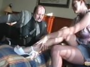 Old young couple motel fucking