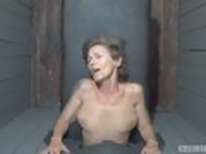 Sensual czech mature babe bound and fucked in gangbang