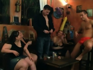 Big tits party in the bbw club